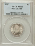 Liberty Nickels, 1883 5C With Cents MS66 PCGS....