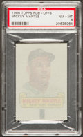 Baseball Cards:Singles (1960-1969), 1966 Topps Rub-Offs Mickey Mantle PSA NM-MT 8. ...