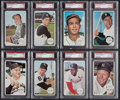 Baseball Cards:Lots, 1964 Topps Giants Baseball PSA NM-MT 8 Group (18) With Mantle. ...