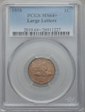 Flying Eagle Cents, 1858 1C Large Letters MS64+ PCGS....