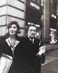 Photographs:20th Century, PETER BASCH (German/American, 1921-2004). Salvador Dalí withBruna Caruso, Fifth Ave New York, circa 1965. Gelatin silve...