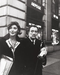 PETER BASCH (German/American, 1921-2004) Salvador Dalí with Bruna Caruso, Fifth Ave New York, circa 196