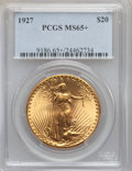 Saint-Gaudens Double Eagles, 1927 $20 MS65+ PCGS....