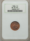 Indian Cents, 1884 1C MS65 Red NGC....