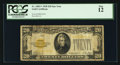 Small Size:Gold Certificates, Fr. 2402* $20 1928 Gold Certificate Star. PCGS Fine 12.. ...
