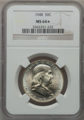 Franklin Half Dollars: , 1948 50C MS64 ★ NGC. NGC Census: (454/483). PCGS Population(649/322). Mintage: 3,006,814. Nu...