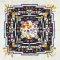 "Luxury Accessories:Accessories, Hermes Purple, Pink, and Gold ""Petite Main,"" by Caty Latham SilkScarf. ..."