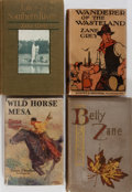 Books:Literature 1900-up, Zane Grey. Group of Four First Edition Books. Various publishers.About good or better condition.... (Total: 4 Items)