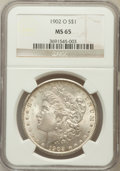 Morgan Dollars: , 1902-O $1 MS65 NGC. NGC Census: (6323/556). PCGS Population(4082/507). Mintage: 8,636,000. Numismedia Wsl. Price for probl...