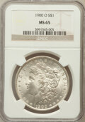Morgan Dollars: , 1900-O $1 MS65 NGC. NGC Census: (6554/1040). PCGS Population(5813/932). Mintage: 12,590,000. Numismedia Wsl. Price for pro...