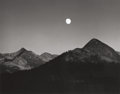 Photographs:20th Century, ANSEL ADAMS (American, 1902-1984). Moonrise from GlacierPoint, 1959. Gelatin silver, circa 1965. 7-3/8 x 9-1/2 inches(...