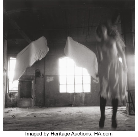 FRANCESCA WOODMAN (American, 1958-1981) Untitled, from Angel Series, Rome, 1977-78 Gelatin silver, Estate print  3-1/...