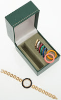 Luxury Accessories:Accessories, Gucci Watch with Multi-Colored Bezels. ...
