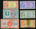 Military Payment Certificates:Series 611, Series 611 MPCs Very Good or Better.. ... (Total: 6 notes)