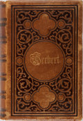 Books:Literature Pre-1900, George Herbert. The Works of George Herbert, in Prose andVerse. Appleton, 1856. Contemporary leather with minor...