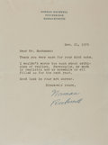 Autographs:Artists, Norman Rockwell Typed Letter Signed. ...