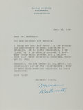 Autographs:Artists, Norman Rockwell Typed Letter Signed....