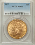 Liberty Double Eagles, 1877 $20 MS61 PCGS....
