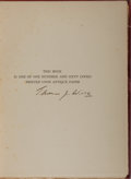 Books:Books about Books, Thomas James Wise [editor]. Robert Browning [subject].SIGNED/LIMITED. A Browning Library: A Catalogue of PrintedBooks,...