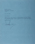 Autographs:Authors, Clive Barker (1952- Present, British Horror Writer). Typed LetterSigned. July 9, 1987. Approximately 10 x 8 inches. Three h...