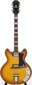 Musical Instruments:Electric Guitars, 1965 Epiphone Al Caiola Sunburst Semi-Hollow Body Electric Guitar,Serial # 307576....