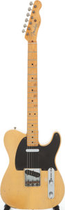 Musical Instruments:Electric Guitars, 1952 Fender Telecaster Butterscotch Blonde Solid Body ElectricGuitar, Serial # 2696....