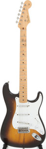 Musical Instruments:Electric Guitars, 1955 Fender Stratocaster Sunburst Solid Body Electric Guitar,Serial # 09779....