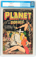 Golden Age (1938-1955):Science Fiction, Planet Comics #33 (Fiction House, 1944) CGC VG 4.0 Cream tooff-white pages....
