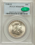 Franklin Half Dollars: , 1948-D 50C MS66 Full Bell Lines PCGS. CAC. PCGS Population (136/0).NGC Census: (61/0). Numismedia Wsl. Price for problem ...