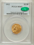 Indian Quarter Eagles: , 1912 $2 1/2 MS62 PCGS. CAC. PCGS Population (1066/1301). NGCCensus: (2464/1755). Mintage: 616,000. Numismedia Wsl. Price f...
