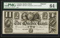 Canadian Currency: , Quebec, LC- The Quebec Bank $2 August 1, 18__ Ch. # 620-20-04P. ...