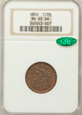 Half Cents, 1854 1/2 C MS65 Brown NGC. CAC. C-1, B-1, R.1....