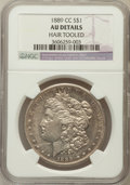 Morgan Dollars, 1889-CC $1 -- Hair Tooled -- NGC Details. AU....