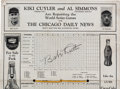 Autographs:Others, 1929 Babe Ruth Signed World Series Program....