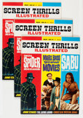 Magazines:Vintage, Screen Thrills Illustrated #8 Group (Warren, 1964) Condition: Average NM-.... (Total: 3 Comic Books)