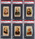 "Non-Sport Cards:Sets, 1887 N1 Allen & Ginter ""American Editors"" Near Set (40/50). ..."