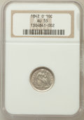 Seated Dimes: , 1842-O 10C AU55 NGC. NGC Census: (3/24). PCGS Population (9/17).Mintage: 2,020,000. Numismedia Wsl. Price for problem free...