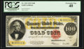 Large Size:Gold Certificates, Fr. 1215 $100 1922 Gold Certificate PCGS Extremely Fine 40.. ...