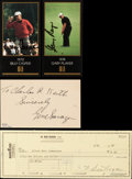 Golf Collectibles:Autographs, Sarazen, Hogan, Casper and Player Signed Memorabilia Lot of 4....