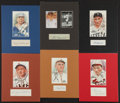 Baseball Collectibles:Others, Baseball Great Signed Cut Signature Displays Lot of 6 - With Bender....
