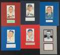 Baseball Collectibles:Others, Baseball Great Signed Cut Signature Displays Lot of 6....