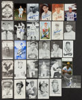 Baseball Collectibles:Photos, Baseball Greats and Minor Stars Signed Postcard Sized Photographs,etc. Lot of 30 - With Mantle, Greenberg, etc....