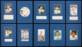 Baseball Collectibles:Others, Baseball Great Signed Cut Signature Displays Lot of 10 - With Mantle and DiMaggio....