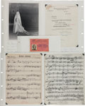 Movie/TV Memorabilia:Autographs and Signed Items, Lilly Pons Scrapbook with Signed Music Sheets (c. 1970s)....