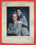 "Movie/TV Memorabilia:Autographs and Signed Items, A Bob Newhart and Others Signed Item from ""The Bob Newhart Show.""..."