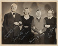 Movie/TV Memorabilia:Autographs and Signed Items, A Mickey Rooney and Others Signed Black and White Photograph (C.1937)....