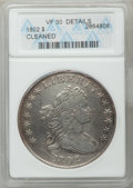 Early Dollars, 1802 $1 Narrow Date -- Cleaned -- ANACS. VF30 Details. B-6, BB-241,R.1....