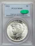 Peace Dollars, 1923 $1 MS66 PCGS. CAC....
