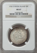 Commemorative Silver, 1936-D 50C Rhode Island MS67 NGC....