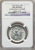 Commemorative Silver: , 1934 50C Texas -- Improperly Cleaned -- NGC Details. UNC. NGCCensus: (0/2237). PCGS Population (1/3576). Mintage: 61,463. ...